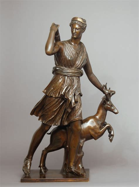 diana bronze an exquisite barbedienne foundry bronze of diana