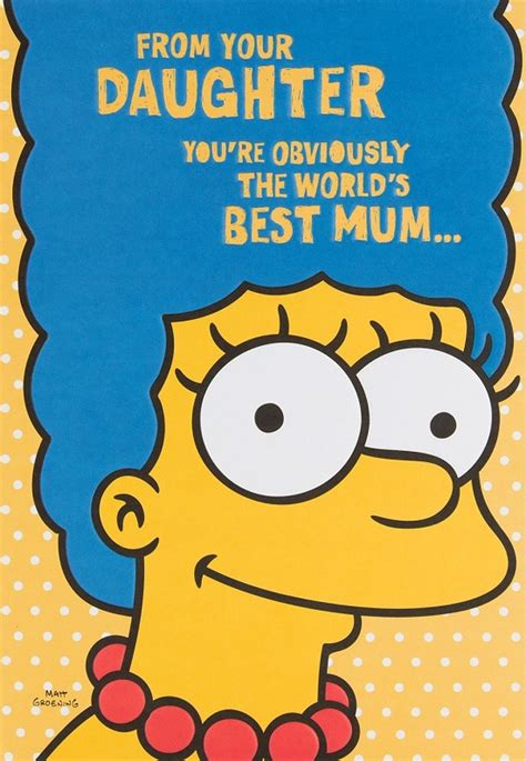 marge simpson   daughter mum mothers day card