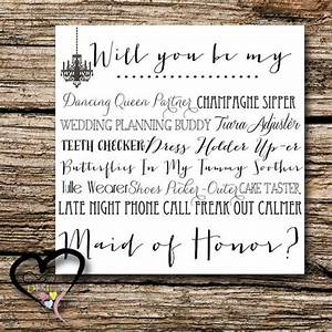 maid of honor proposal card ask bridesmaid by With maid of honor proposal letter