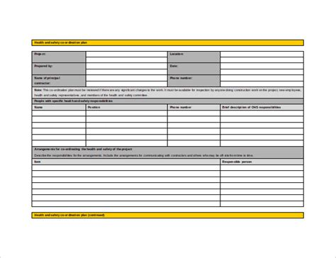 Safety And Health Plan Template - Costumepartyrun