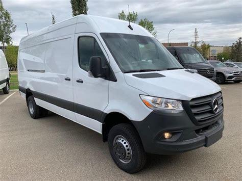 "It has two wheelbase options as well: New 2019 Mercedes Benz Sprinter Cargo Van 3500XD High Roof V6 170"" 4x4 Regular Cargo in Edmonton ..."