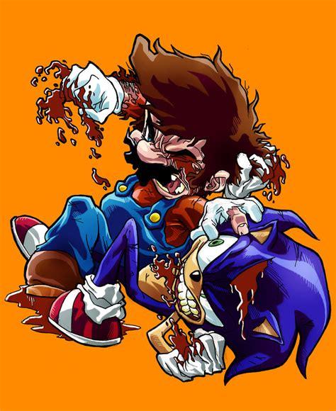 Mario Vs Sonic By Sebastianvonbuchwald On Deviantart