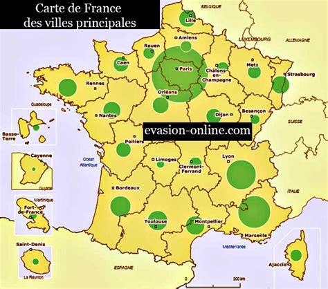 Carte De Avec Villes Principales by Carte De Villes 187 Vacances Arts Guides Voyages
