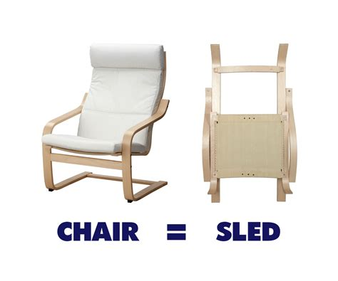 ikea chair sled all