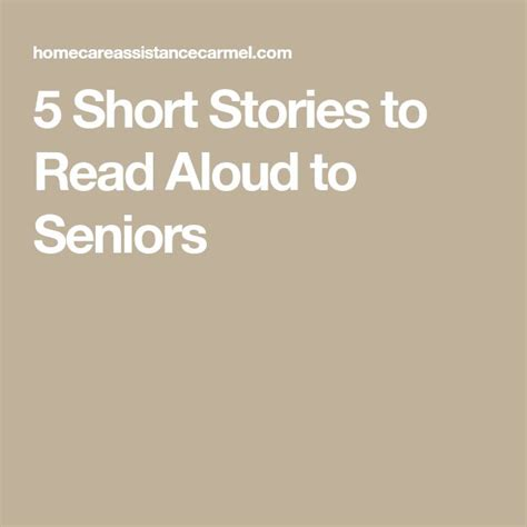 short stories  read aloud  seniors short stories