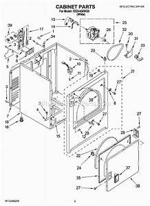 Whirlpool Eed4400wq0 Parts List And Diagram