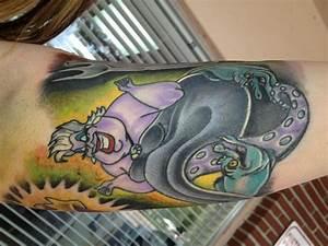 the little mermaid sleeve tattoo