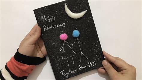 Handmade Anniversary Card Anniversary Card for Parents