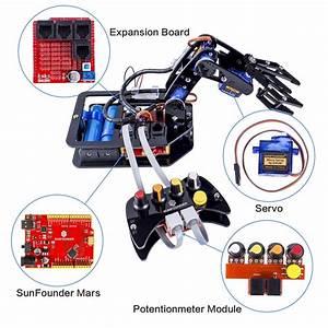 Sunfounder Diy Robotic Arm Kit 4