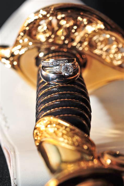 marine corps wedding our rings on his sword usmc wedding