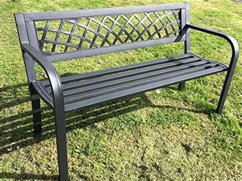 express trading black  seater metal garden outdoor