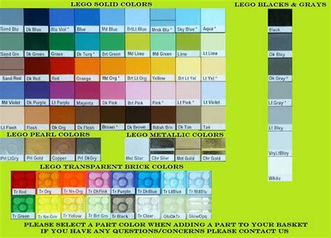 lego colors lego brick color chart transparent metallic brick