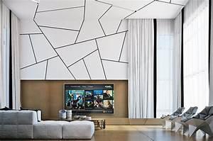 geometric living room interior design ideas With design on walls living room