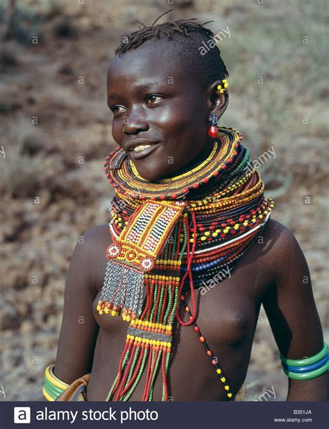 Girl Tribe Kenya Turkana Suguta Valley A Young Turkana Girl