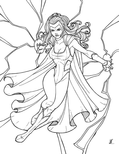 storm superhero coloring pages   print