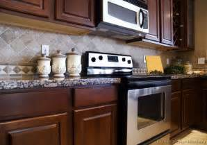 backsplash kitchen tile backsplash ideas for cherry wood cabinets home design and decor reviews