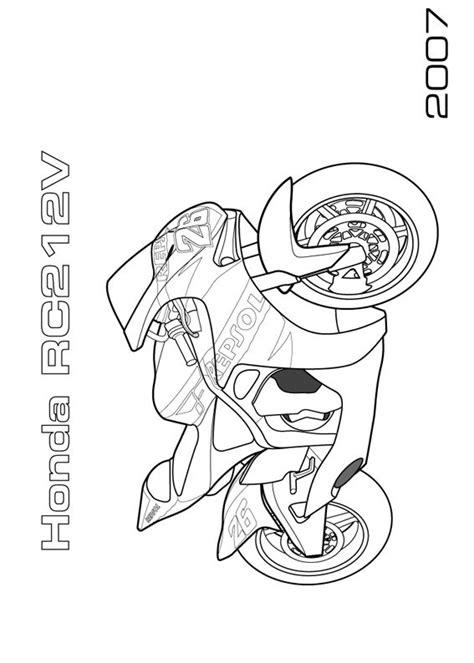 disegni  moto da stampare  colorare pianetabambiniit