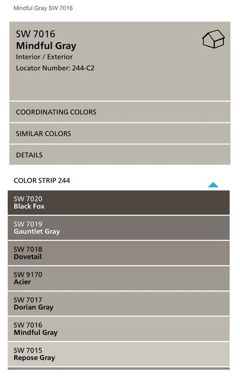 Best Dining Room Colors by Sherwin Williams Mindful Gray Color Spotlight