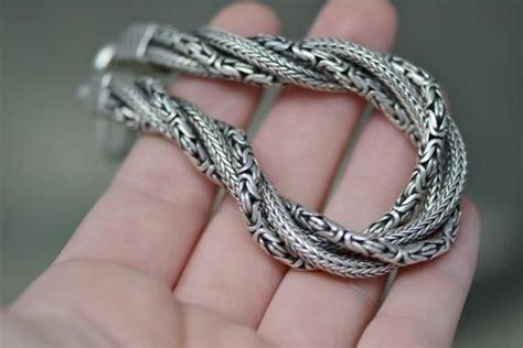 Sterling Silver Suarti Byzantine Link Bracelet Mens