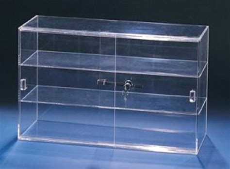 acrylic showcase lockable display cabinet  sliding