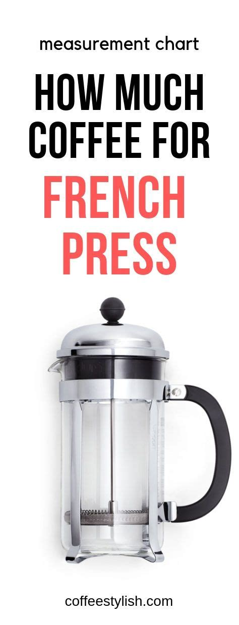 Fill the french press until about a half inch from the top. How Much Coffee For French press (Ratio) - coffeestylish.com | French press coffee recipe ...