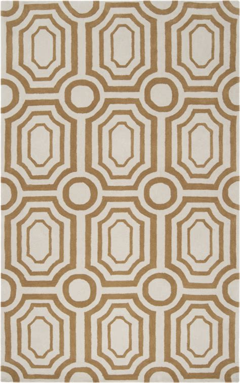 white and gold rug gold and white geometric hudson park rug by surya