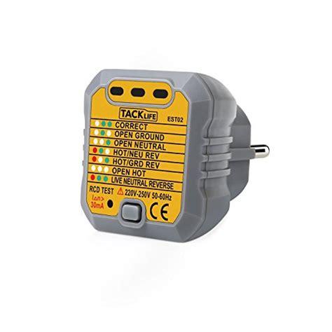 Tacklife Est Advanced Outlet Tester Socket