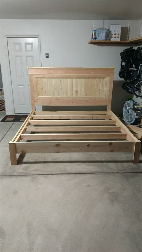 ana white king bed frame diy projects   diy