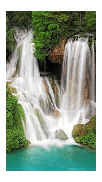 Nature Waterfall Giphy Gifs Wallpapers Water Iphone