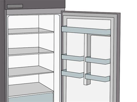 open fridge clipart black and white refrigerator clipart 28
