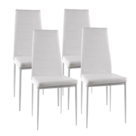 chaise de salle à manger design chaises blanches salle a manger maison design modanes com