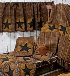 Western Kitchen Canisters Primitive Patchwork Valance Primitive Decor