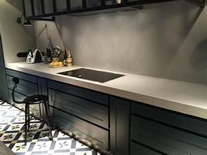 Faire Un Plan De Travail En Béton Ciré : plan de travail en b ton cir pour cuisine 71 couleurs dispo ~ Farleysfitness.com Idées de Décoration