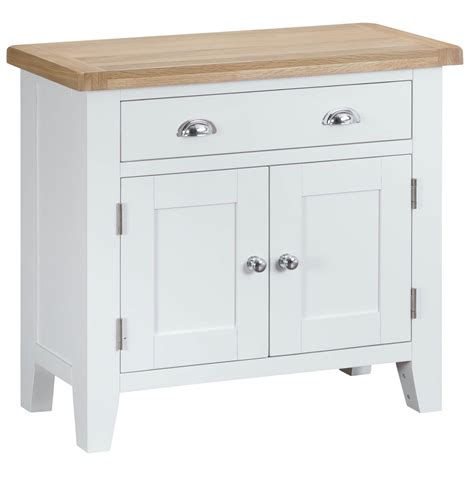 Small White Sideboard by Woodbridge Small White Sideboard Fully Assembled Oak World