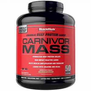 Musclemeds  Carnivor Mass  Anabolic Beef Protein Gainer  Chocolate Fudge  5 99 Lbs  2 716 G