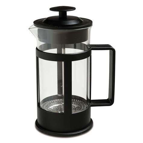 Place the lid on but do not push the plunger down until the coffee has fully brewed. Zip 350ml Coffee Plunger Black   Briscoes NZ