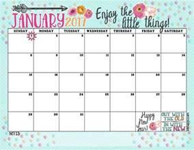 January 2017 Calendar