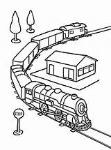 Train Coloring Pages Trains Tunnel Colouring Adult Boys Transportation Toy Template Passed sketch template