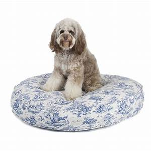 harry barker toile canvas round dog bed With toile dog bed