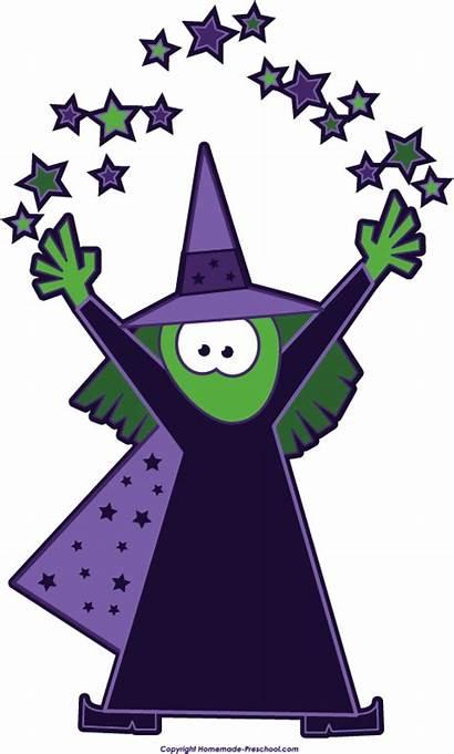 Witch Clip Magic Clipart Halloween Cartoon Stars