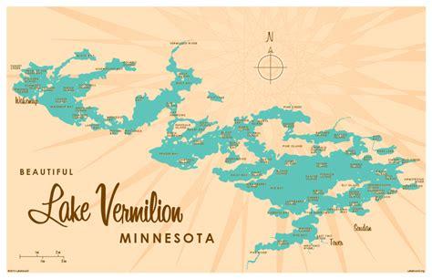 lake vermilion mn map print lakebound lake maps