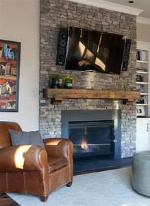 Brick, Fireplace, Mantle, 261, U2013, Decorathing