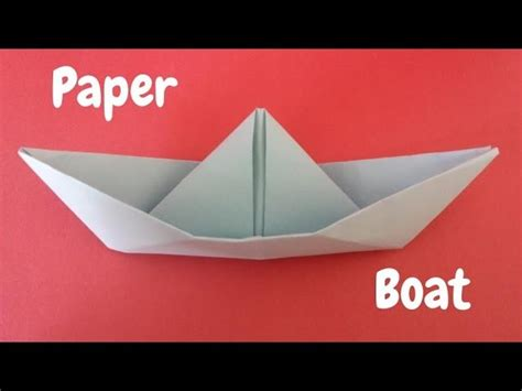 Paper Boat Tutorial by How To Make A Paper Boat Origami Step By Step Tutorial
