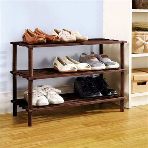 walmart shoe rack mainstays 3 tier wood shoe rack walmart canada