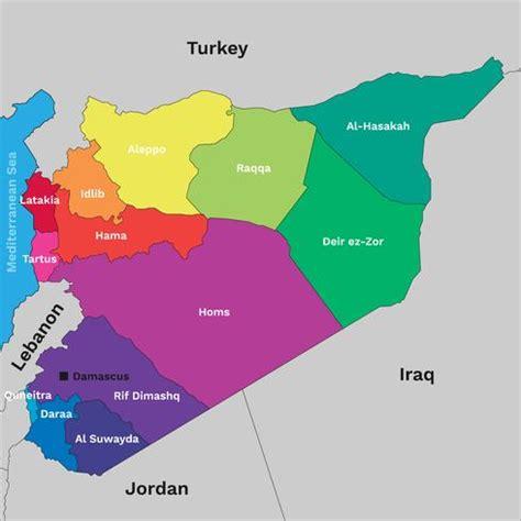syrien politische karte kostenlose vektor kunst archiv
