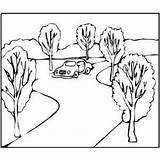 Road Coloring Pages Printable Cars Sketch Template طريق Colour sketch template