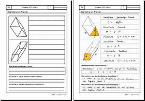 Mantelfläche Berechnen Prisma : mathematik geometrie arbeitsblatt prisma zylinder k rper 8500 bungen arbeitsbl tter ~ Themetempest.com Abrechnung