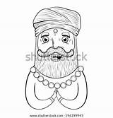 Turban Coloring Pages Template Cartoon sketch template