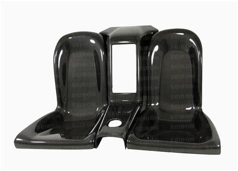 scion cube interior seibon carbon fiber rear seat delete for 2011 2010 2009