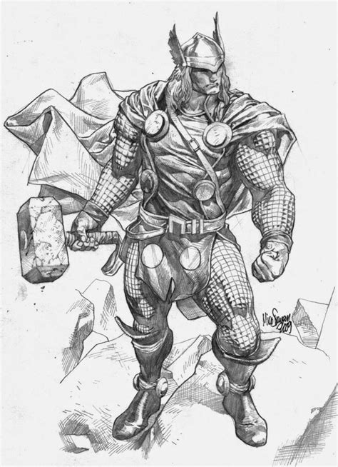 Image result for thor tattoo | Sketches, Comic books art, Marvel art